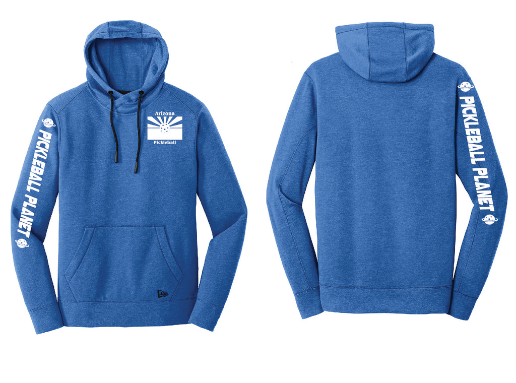 Men's Pullover Hoodie Royal Blue Heather Arizona Flag