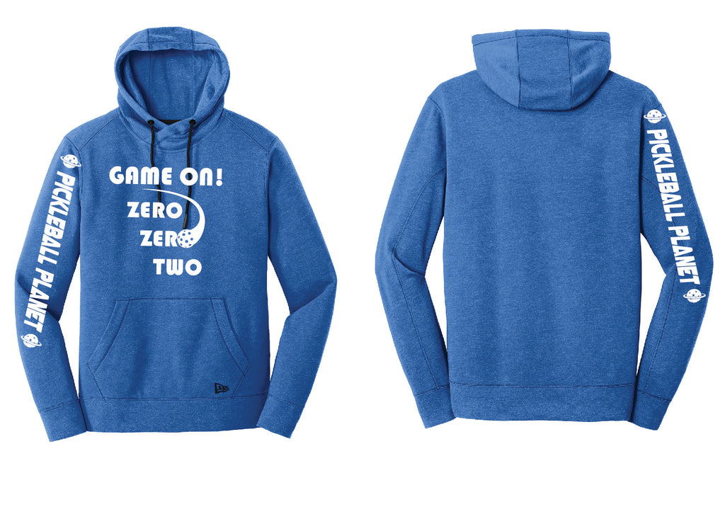 Men's Pullover Hoodie Royal Blue Heather Game On