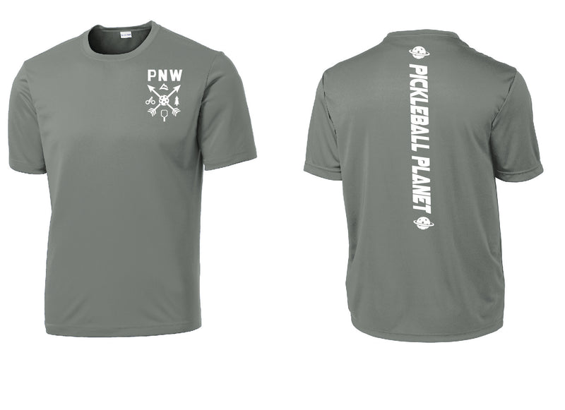Men's Short Sleeve Gray Concrete PNW