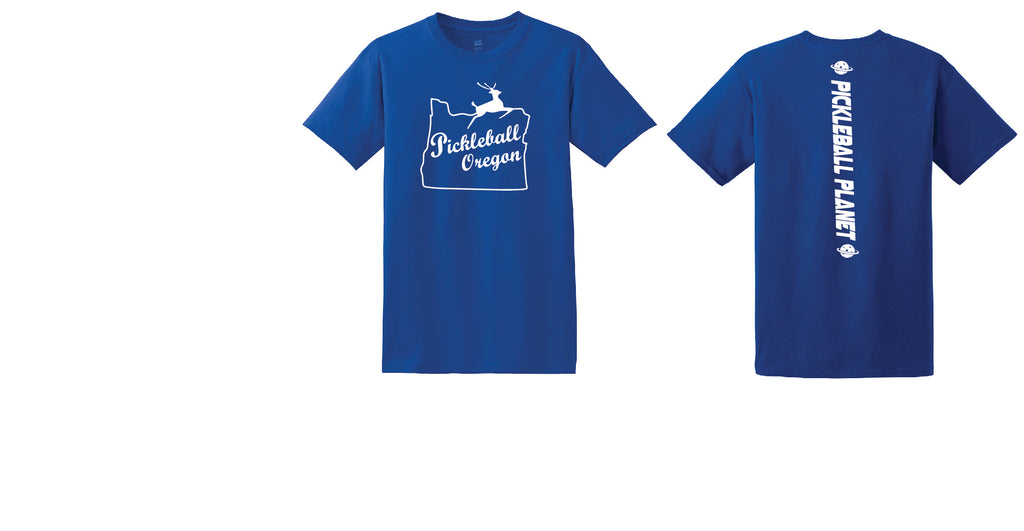 Men's Short Sleeve Cotton Royal Blue Pickleball Oregon
