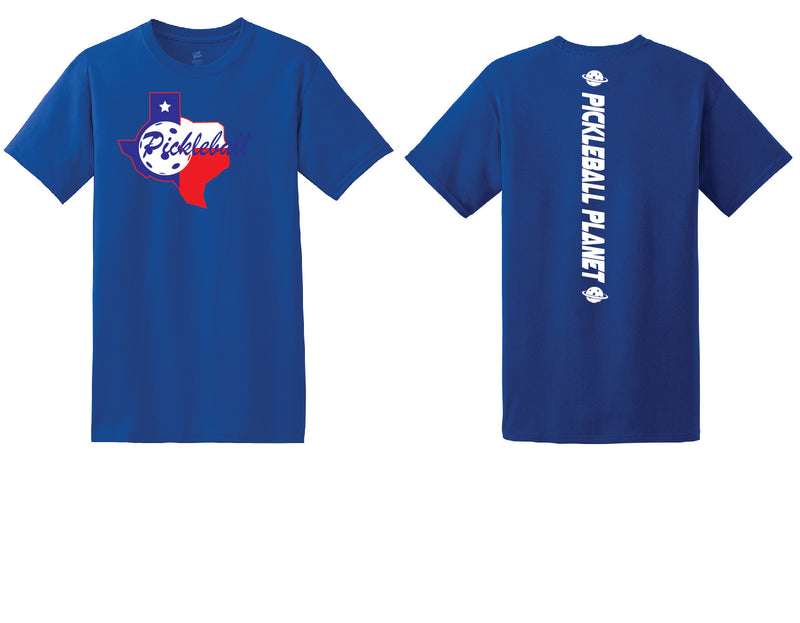 Men's Short Sleeve Cotton Royal Blue Texas State