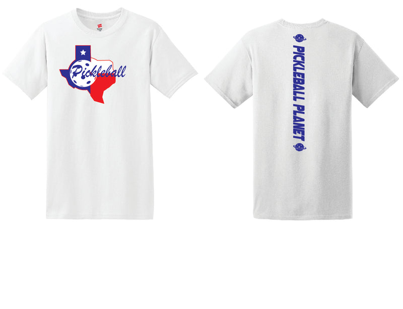 Men's Short Sleeve Cotton White Texas State