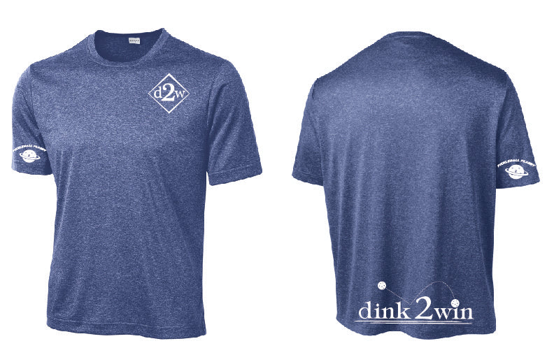 Men's Short Sleeve Performance Tee 'D2W' Royal Heather