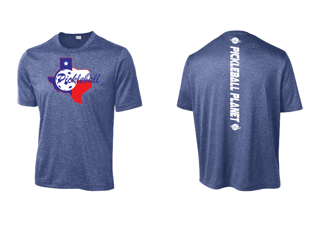 Men's Short Sleeve Heather Royal Blue Texas State
