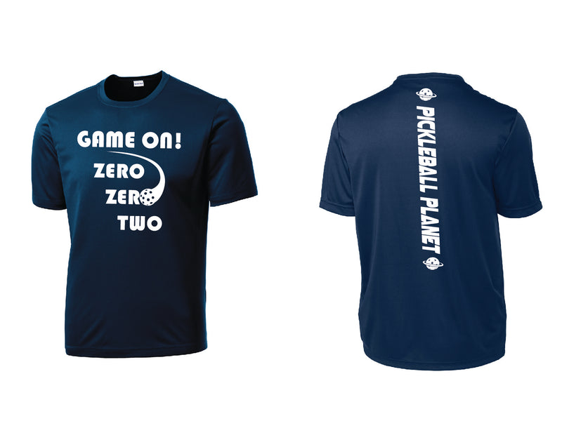 Men's Short Sleeve Navy Blue Game On