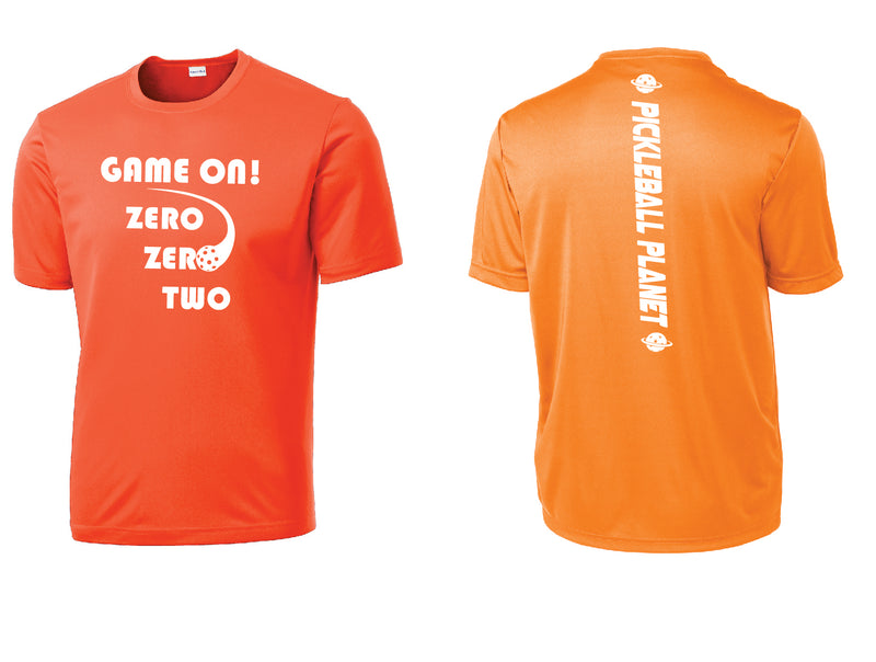 Men's Short Sleeve Neon Orange Game On