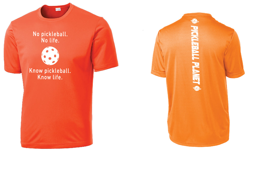 Men's Short Sleeve Neon Orange Know Pickleball