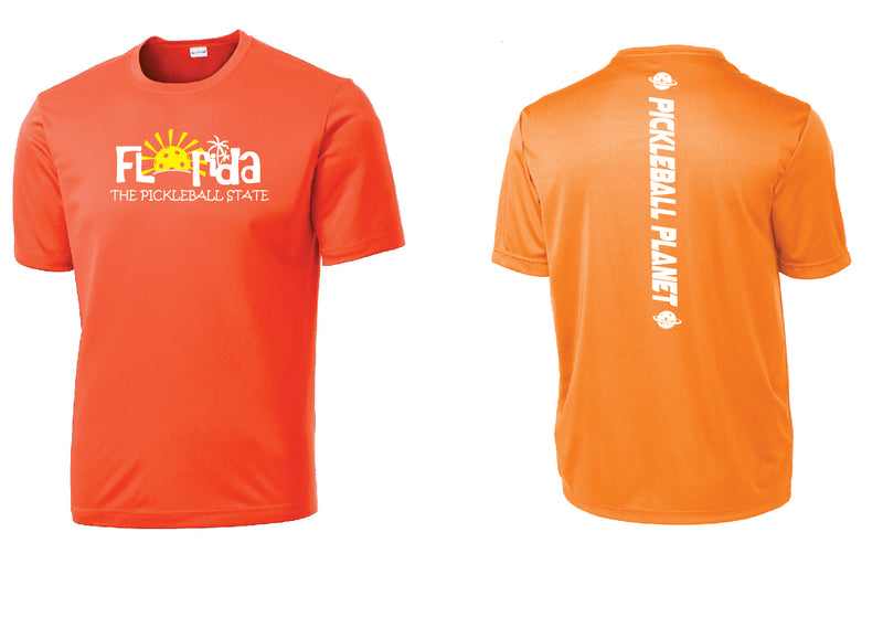 Men's Short Sleeve Neon Orange Florida