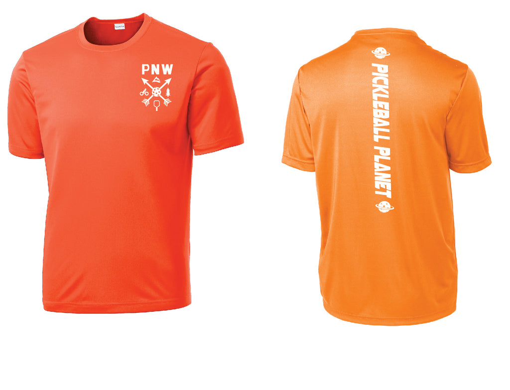 Men's Short Sleeve Neon Orange PNW