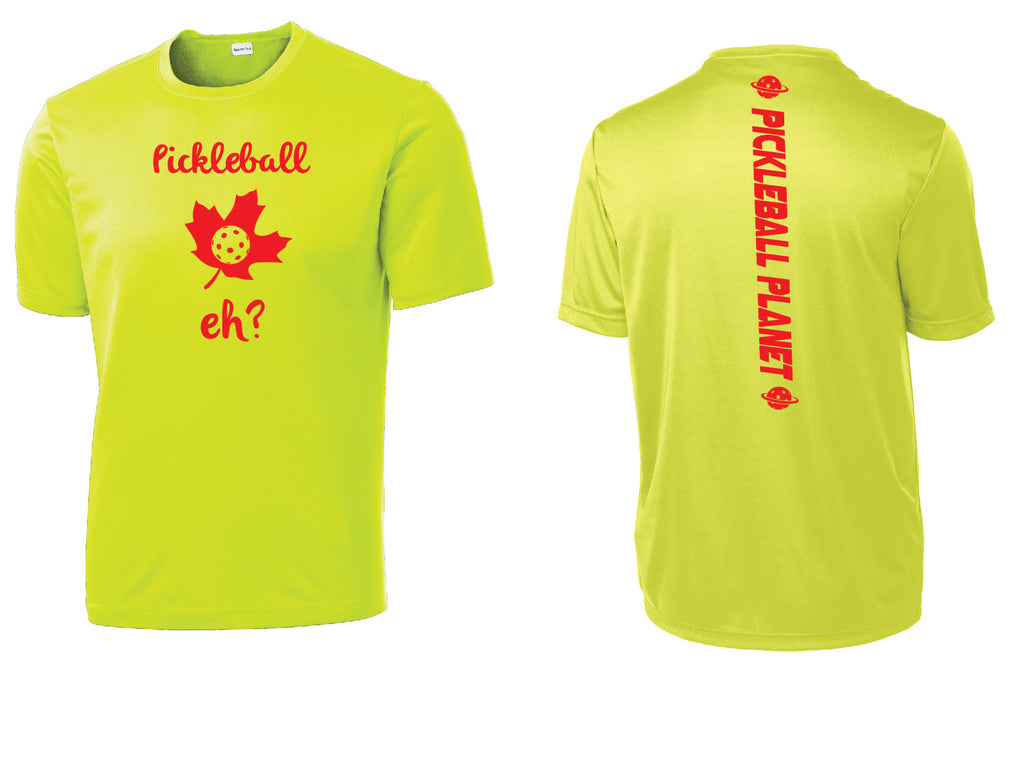 Men's Short Sleeve Neon Yellow Pickleball Eh