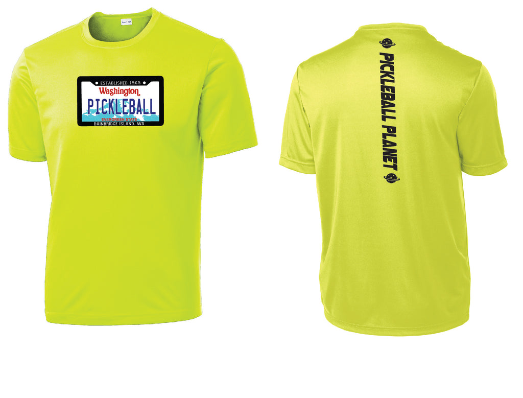 Men's' Short Sleeve Neon Yellow Washington Plate