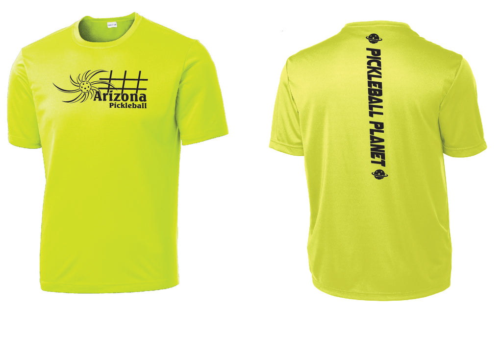 Men's Short Sleeve Neon Yellow Arizona Sun