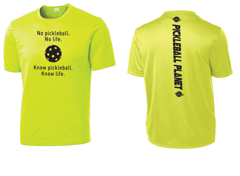 Men's Short Sleeve Neon Yellow Know Pickleball