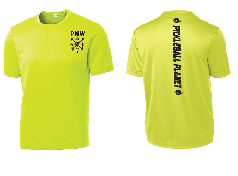 Men's Short Sleeve Neon Yellow PNW