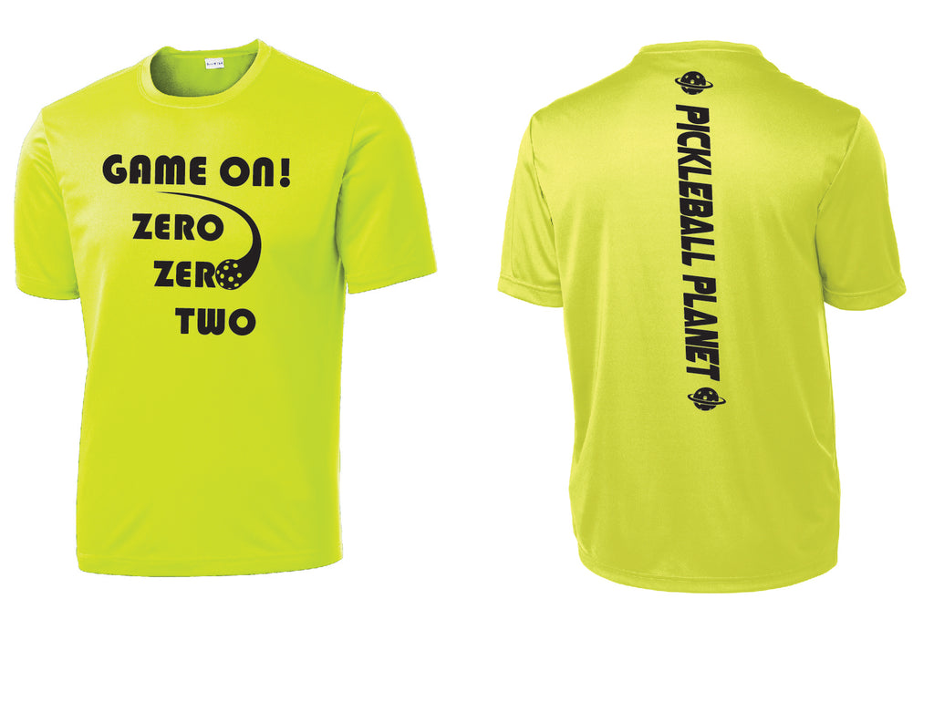 Men's Short Sleeve Neon Yellow Game On