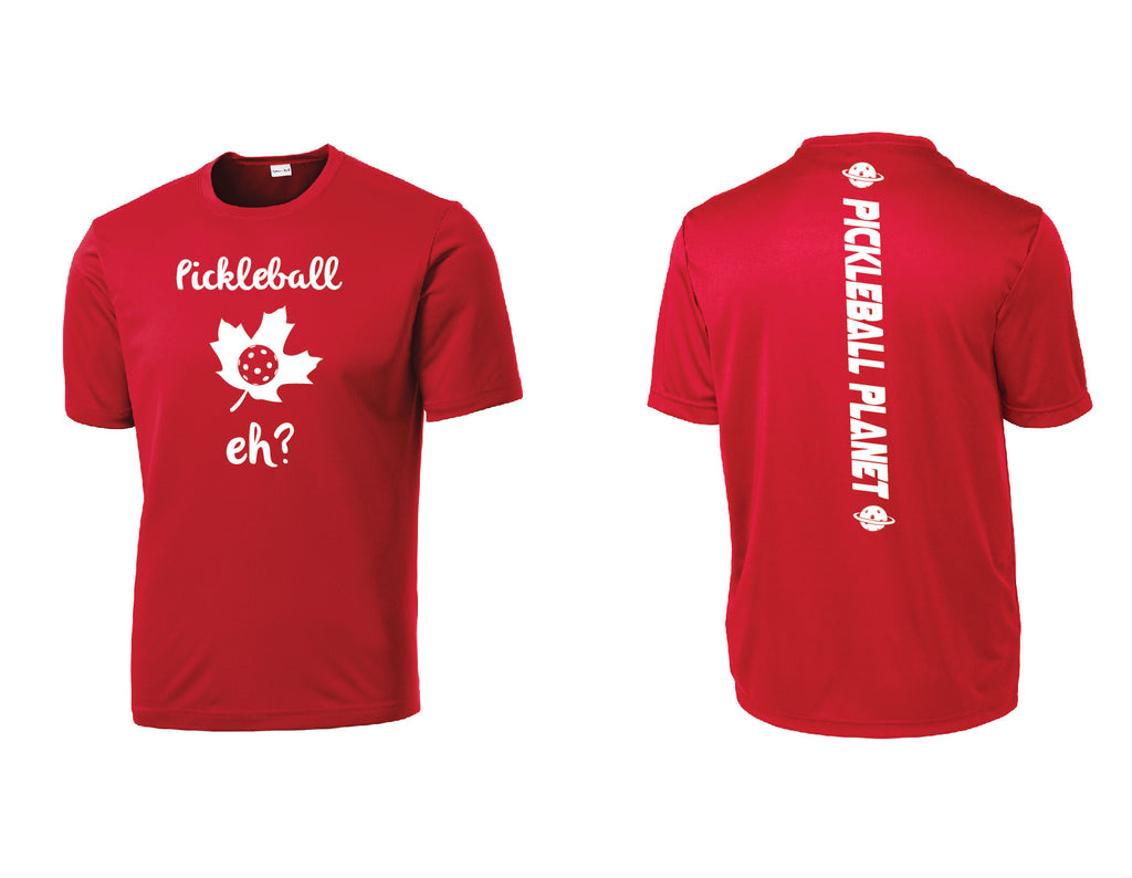 Men's Short Sleeve Red Pickleball Eh