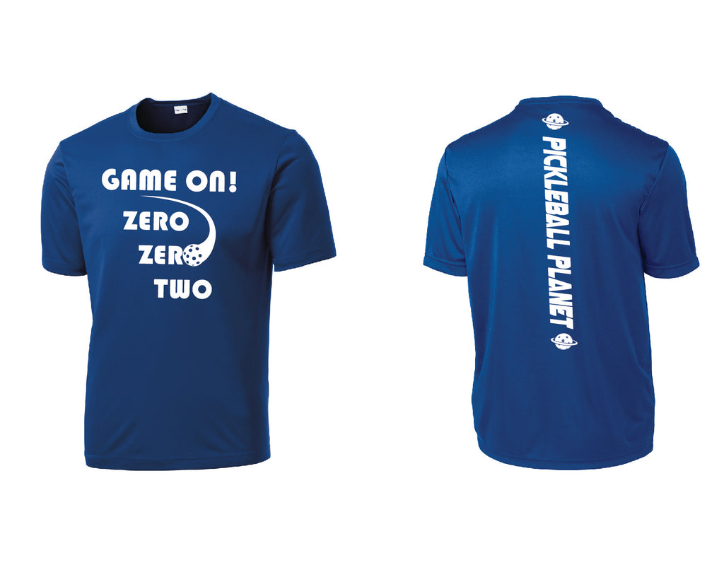 Men's Short Sleeve Royal Blue Game On