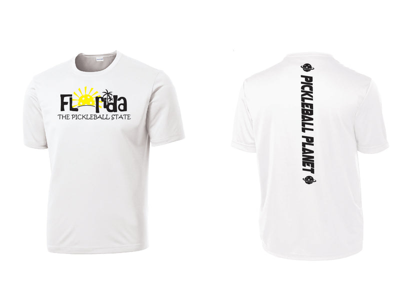 Men's Short Sleeve White Florida