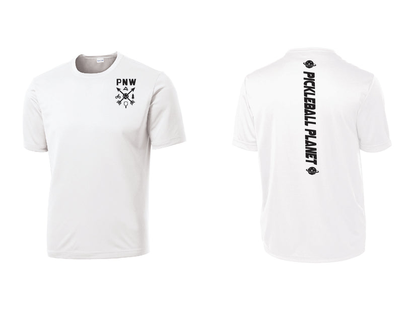 Men's Short Sleeve White PNW