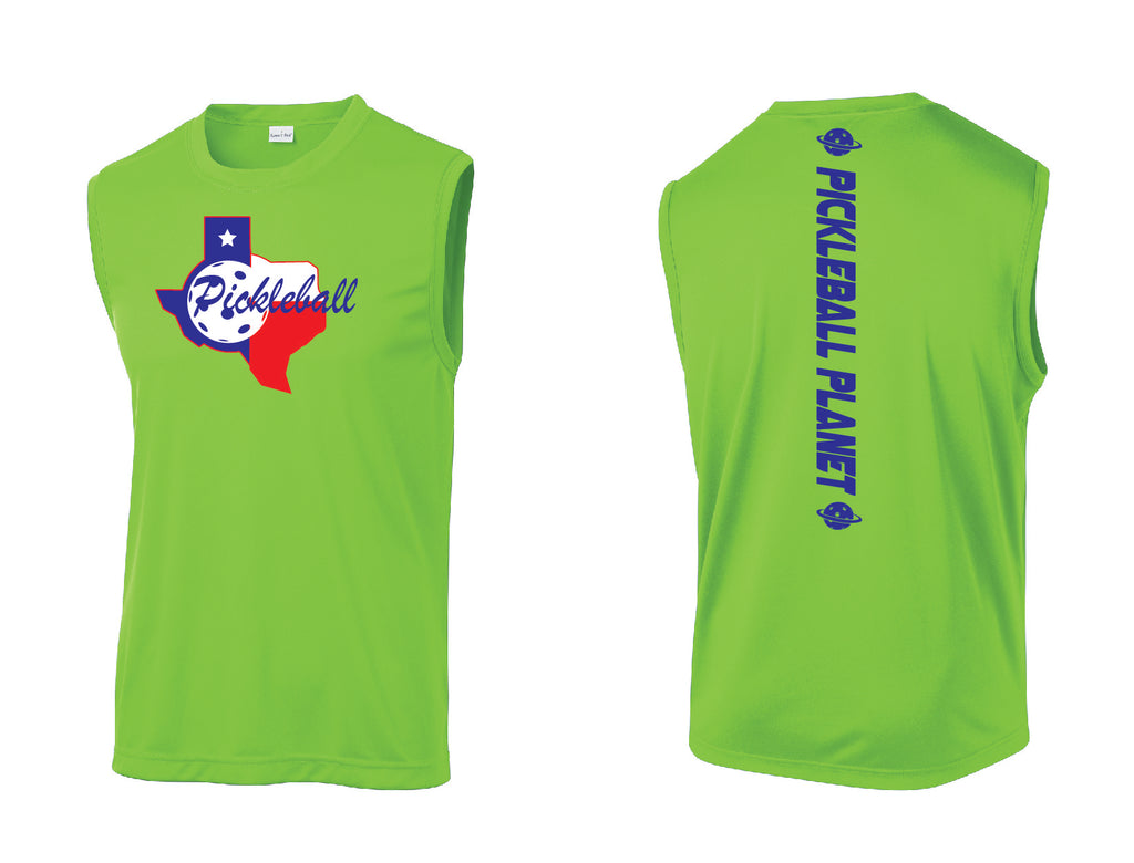 Men's Sleeveless Tank Lime Shock Green Texas State