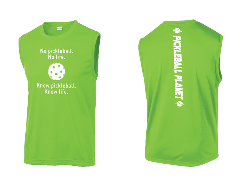 Men's Sleeveless Tank Lime Know Pickleball