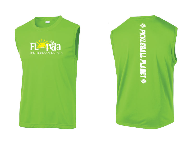 Men's Sleeveless Tank Lime Shock Green Florida