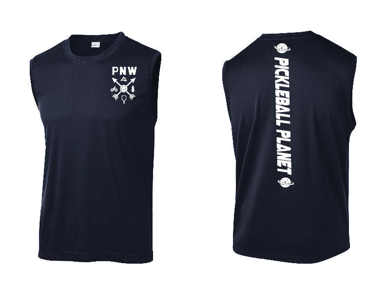 Men's Sleeveless Tank Navy Blue PNW