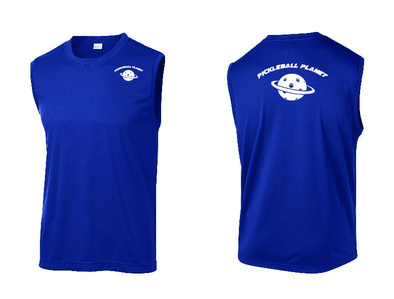 Men's Sleeveless Tank Royal Blue Pickleball Planet
