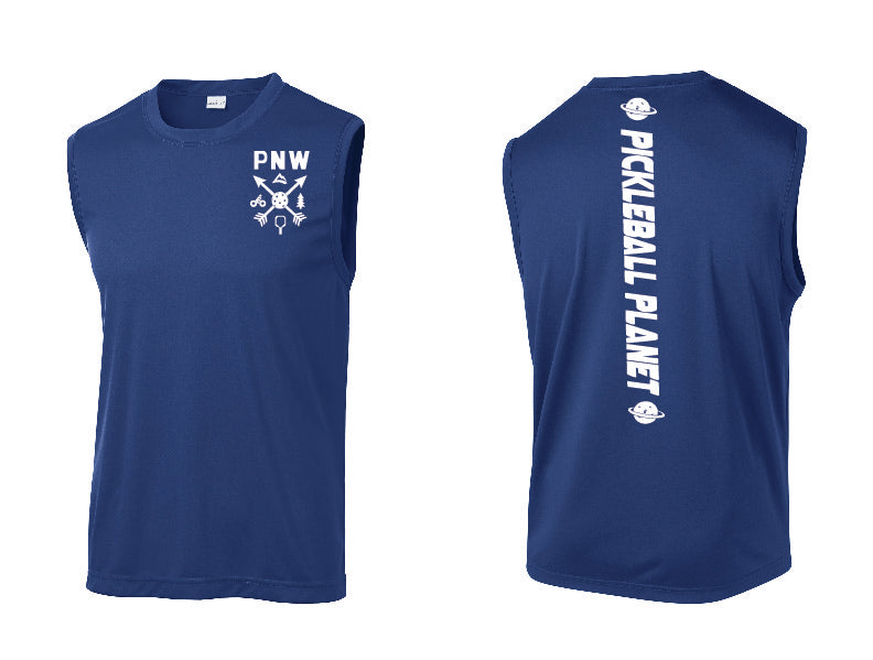 Men's Sleeveless Tank Royal Blue PNW