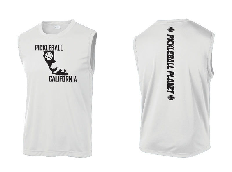 Men's Sleeveless Tank White California Bear
