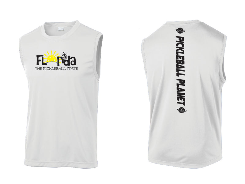 Men's Sleeveless Tank White Florida