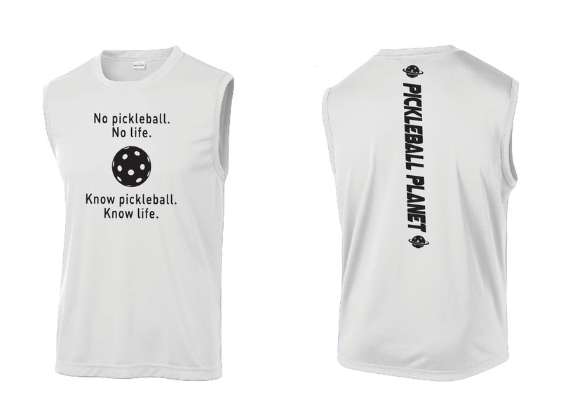 Men's Sleeveless Tank White Know Pickleball