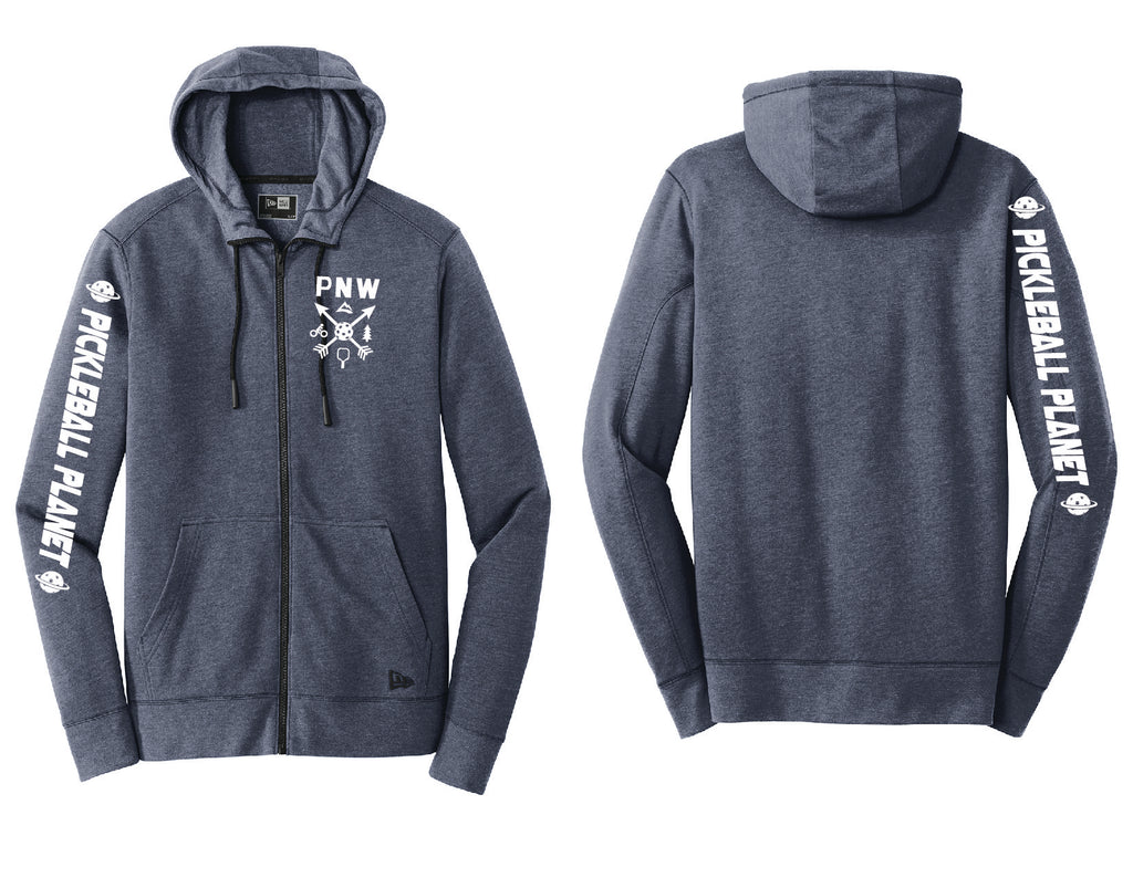Men's Full Zip Hoodie Navy Blue PNW