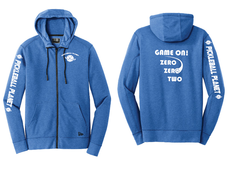 Men's Full Zip Hoodie Royal Blue Heather Game On