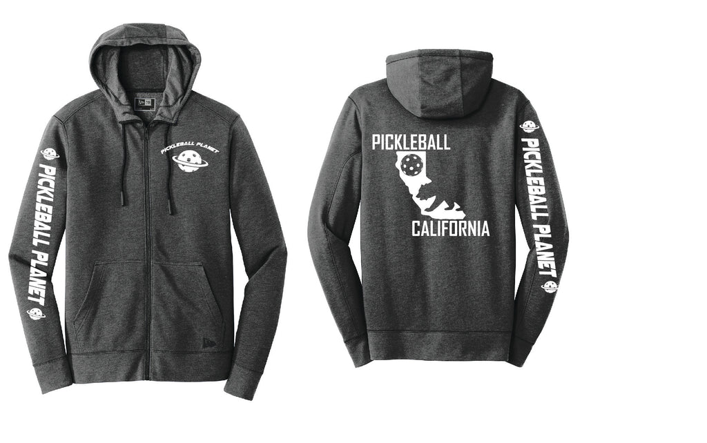 Tri Blend Full Zip Black California Bear Hoodie