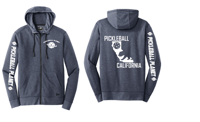 Tri Blend Full Zip Navy Blue California Bear Hoodie