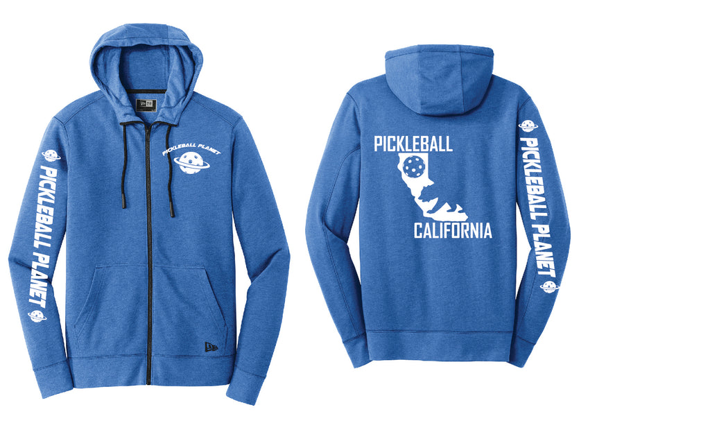 Tri Blend Full Zip Royal Blue California Bear Hoodie