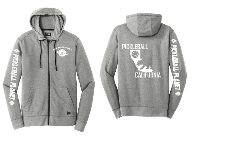 Tri Blend Full Zip Gray California Bear Hoodie
