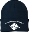 Navy blue pickleball knit cap