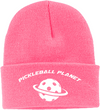 Pink pickleball knit cap