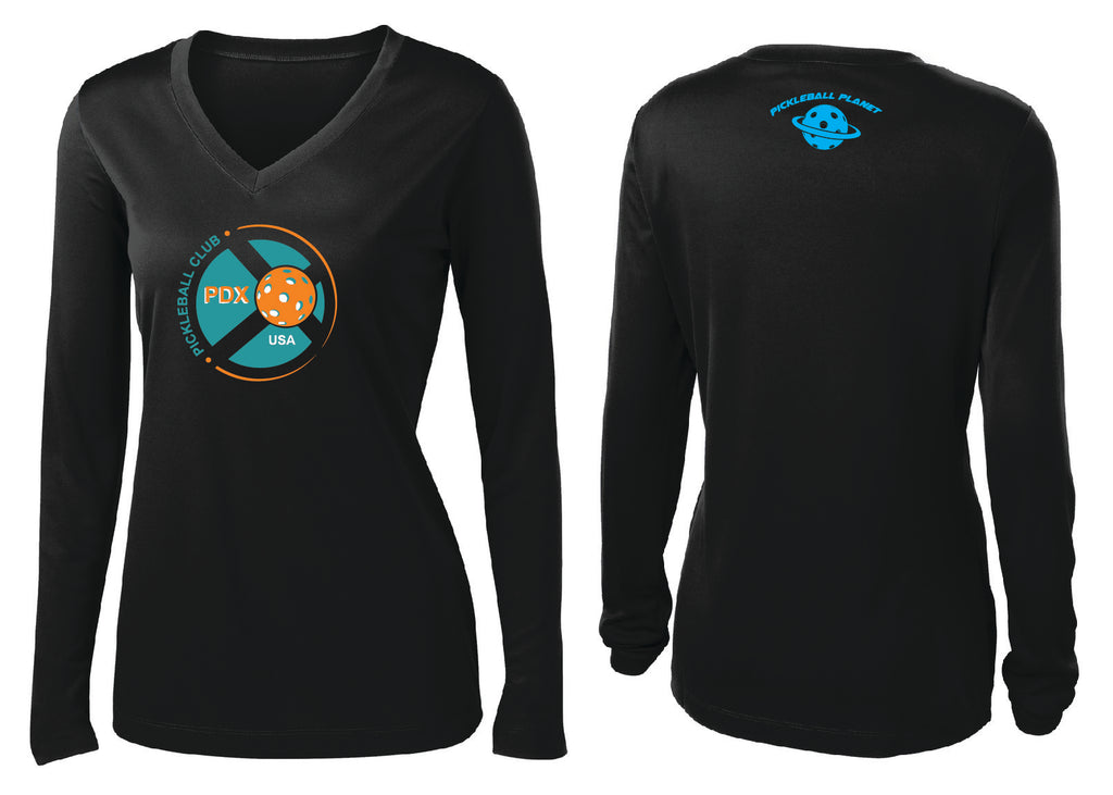 Women's Long Sleeve Performance 'PDX Pickleball' Shirt