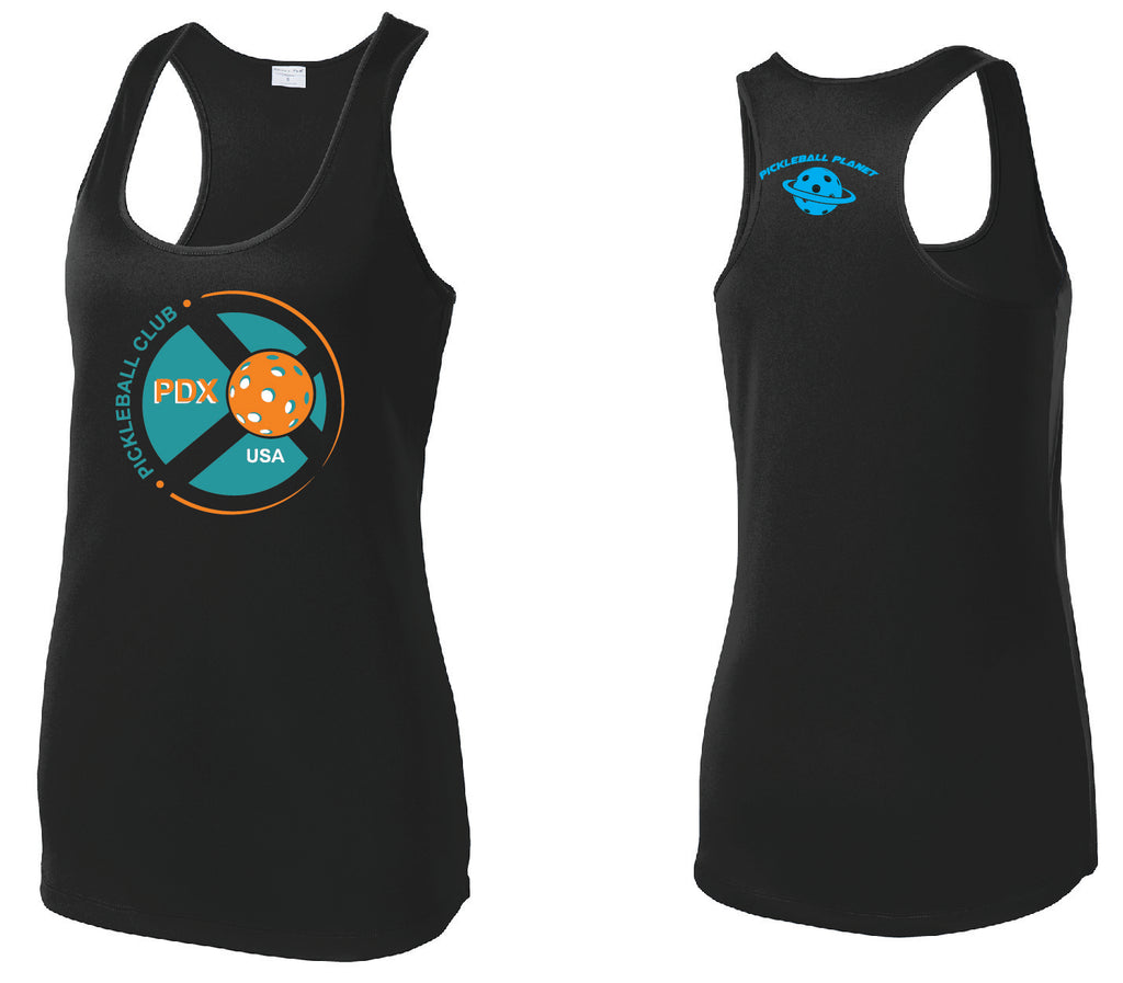 Women's Racerback Tank Performance 'PDX Pickleball' Shirt