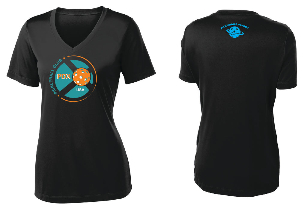 Women's Short Sleeve Performance 'PDX Pickleball' Shirt