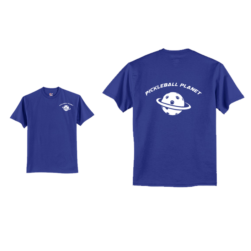 Men's Short Sleeve Cotton Royal Blue Pickleball Planet