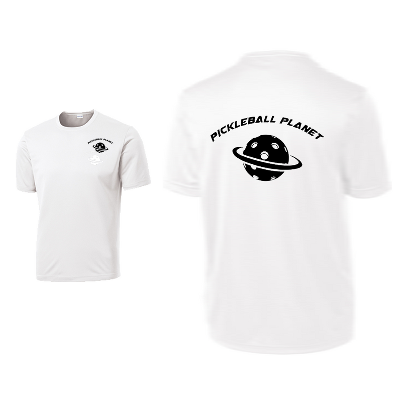 White Pickleball Planet tee shirt
