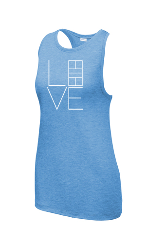 Ladies Sport-Tek ® PosiCharge ® Tri-Blend Wicking Tank 'Love' Design