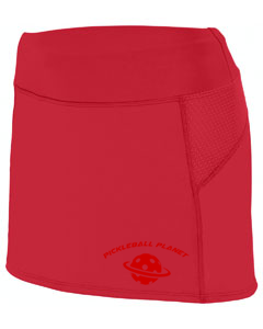 Red pickleball skort
