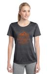 Ladies Heathered Short Sleeve Performance Scoop Neck Tee 'I Love the Smell...'