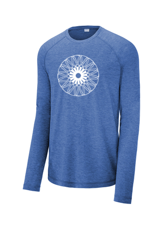 Men's Sport-Tek ® PosiCharge ® Long Sleeve Tri-Blend Wicking Raglan Tee 'Kaleidoscope' Design