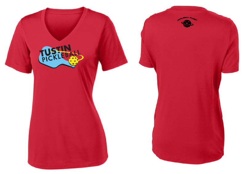 Women's Short Sleeve Performance 'Tustin PBC' Shirt- Red
